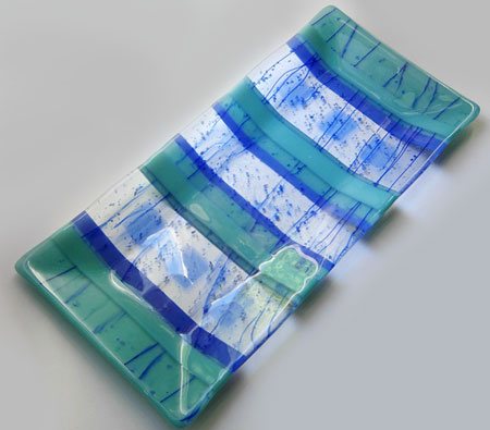 Striped Fused-Glass Platter