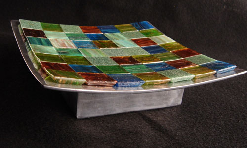 Mosaic Glass Tile Dish