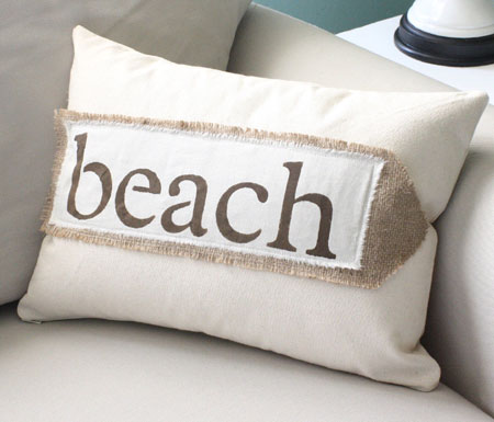 Beach Bar Pillow Cover