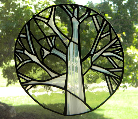 Stained Glass Suncatcher Tree
