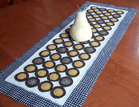 Penny Rug Table Runner