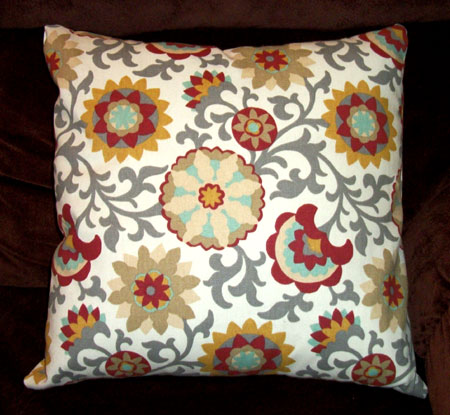 Floral Print Throw Pillowcase