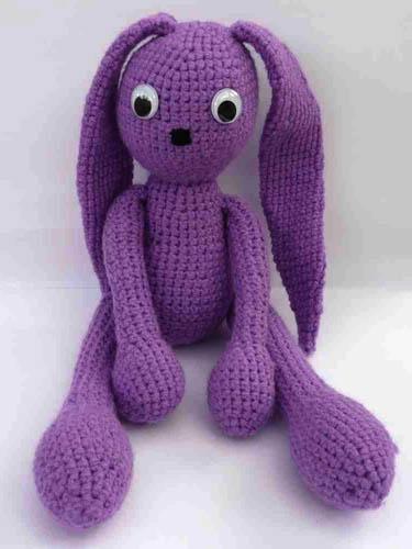 Purple Amigurumi Bunny