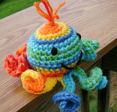 Crocheted Amigurumi Octopus Doll