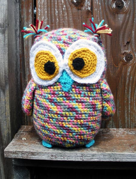 Multi-Color Crochet Owl Plushie