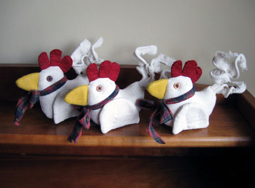 Primitive Chicken Ornaments