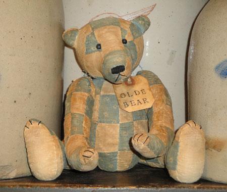 Handsewn Vintage Quilt Bear