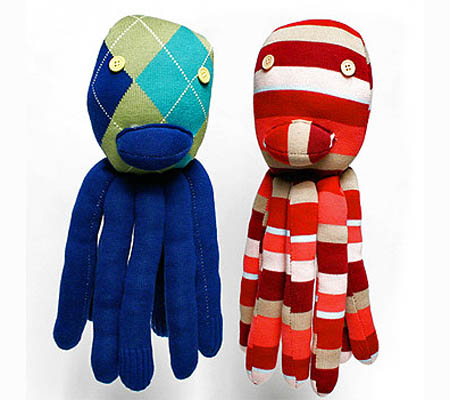 Recycled Socks Octopus Dolls