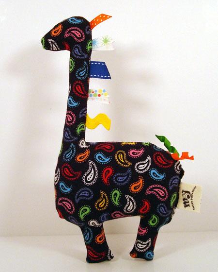 Stuffed Paisley Giraffe Plushie