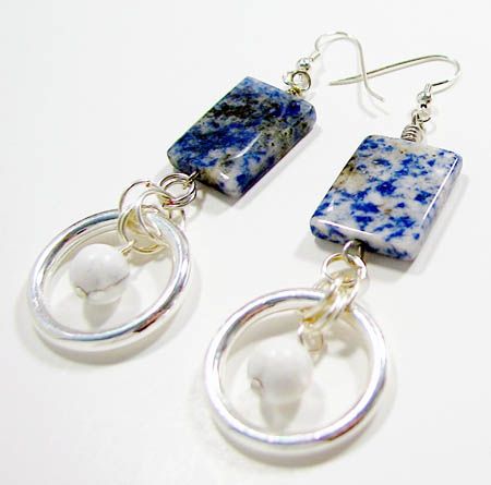 Sodalite Bead Earrings