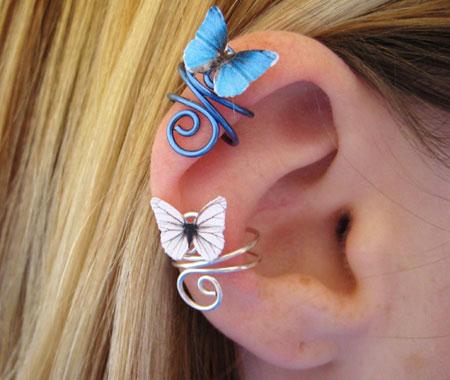 Butterfly Ear Cuffs