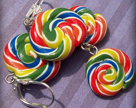 Polymer Clay Lollipop Earrings