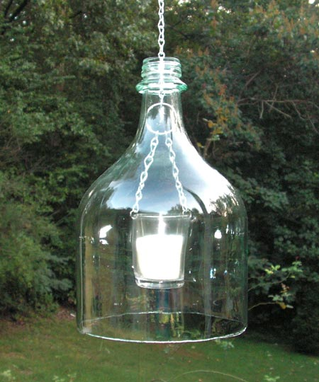 Hanging Wine Bottle Lantern