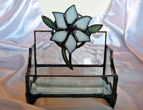 Stained-Glass Business Card Holder