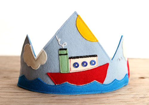 Tugboat Applique Crown