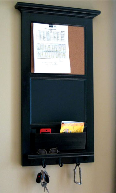 Chalkboard Key Hook Organizer