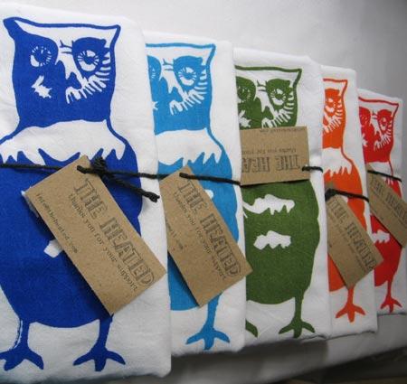 Owl Dish Towels
