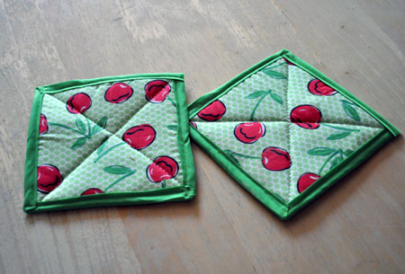 Red Cherries Pot Holders