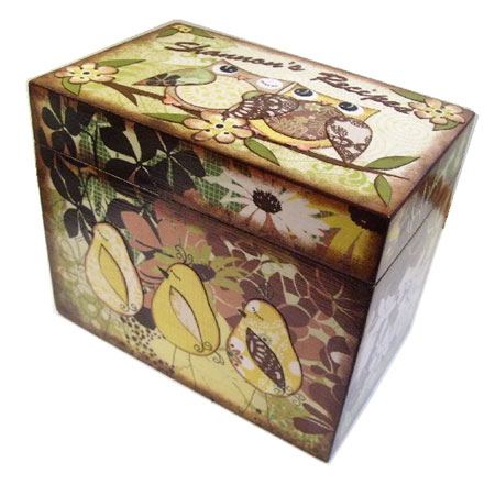 Custom Decoupage Recipe Box