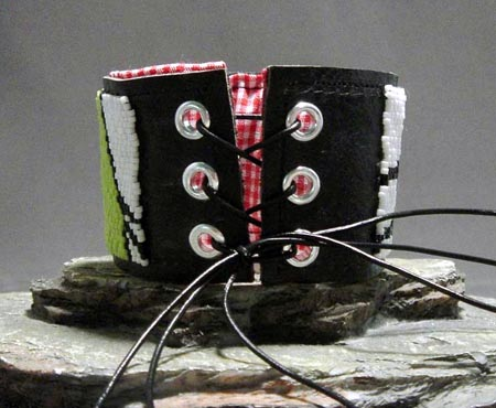 Peyote Stitched Hand Beaded Cuff