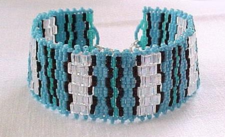 Turquoise Beadwoven Bracelet