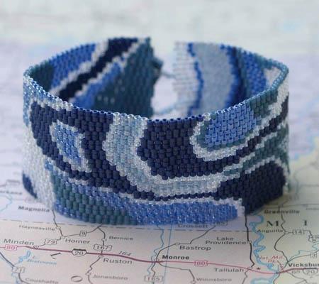 Beadwoven Peyote Stitched Cuff