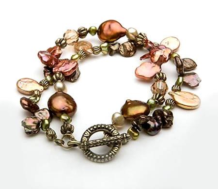 Pewter Bohemian Charm Bracelet