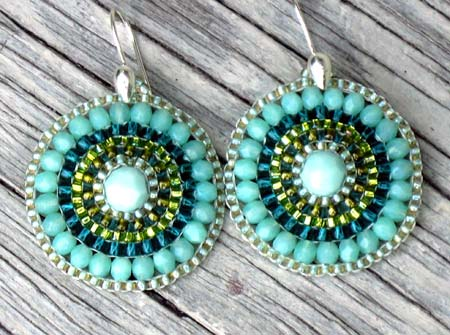Mint Julip Doily Earrings
