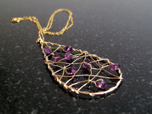 Amethyst Dreamcatcher Necklace