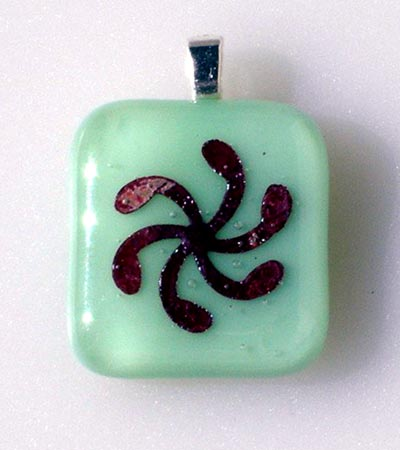 Mint Green Fused Glass Pendant