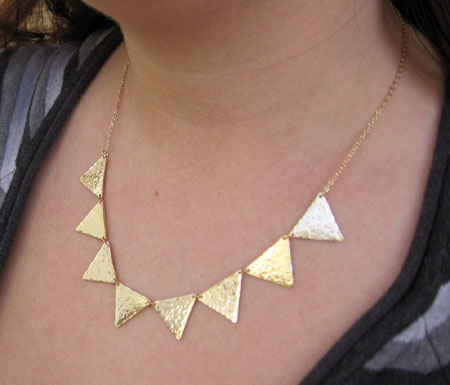 Gold Plated Triangles Necklace