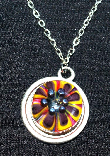 Floral Lampwork Necklace