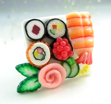 Polymer Clay Sushi Ring