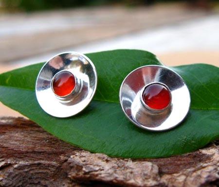 Reflective Carnelian Earrings