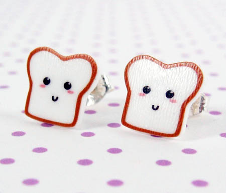 Bread Stud Earrings