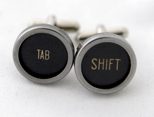 Typewriter Keys Cufflinks