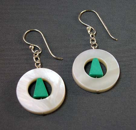 Mother of Pearl Donut Earrings