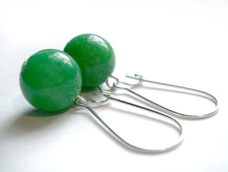 Grass Green Calcite Earrings
