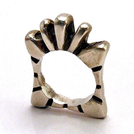 Hand-Cast Silver Sculptural Ring