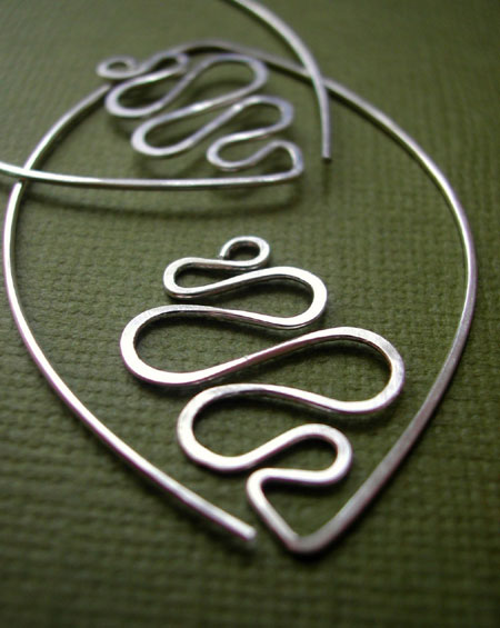 Leafy Hoop Earrings