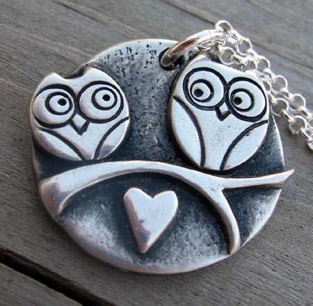 PMC Silver Owl Pendant
