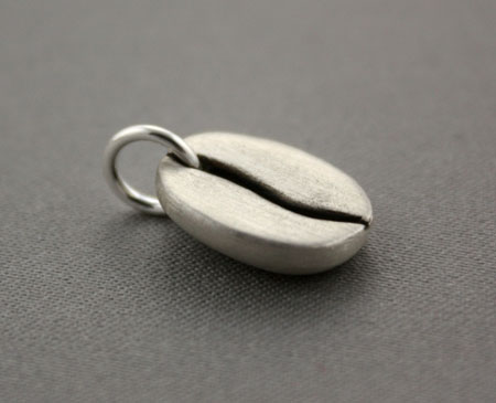 Sterling Silver Coffee Bean Charm