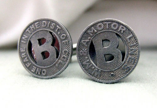 Washington DC Train Token Cufflinks