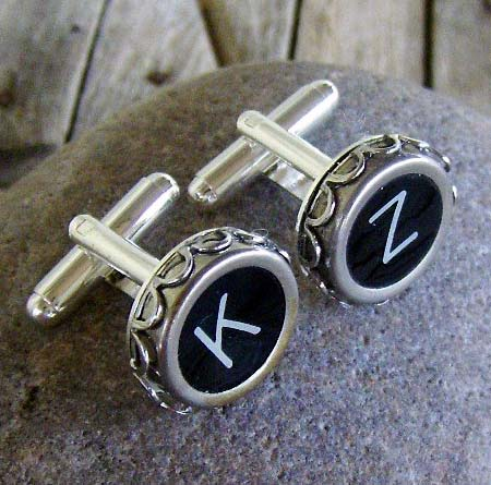 Personalized Vintage Typewriter Cufflinks