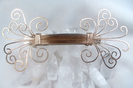 Goldtone Brass Wire Work Barrette