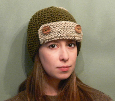 Hand Knit Button Hat