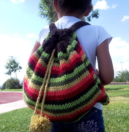 Childrens Knit Backpack