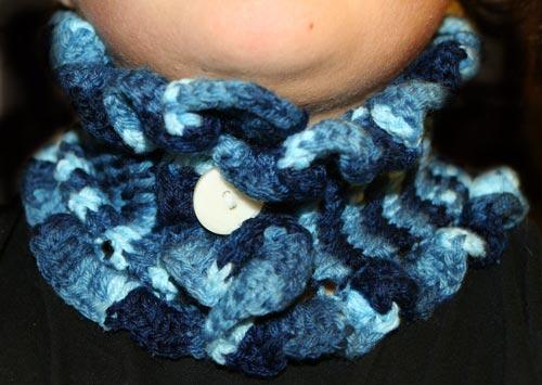 Crochet Ruffle Cowl