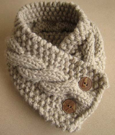 Knitting Patterns For Collar Scarf : Cable-Knit Neck Cowl Arts, Crafts and Design Finds