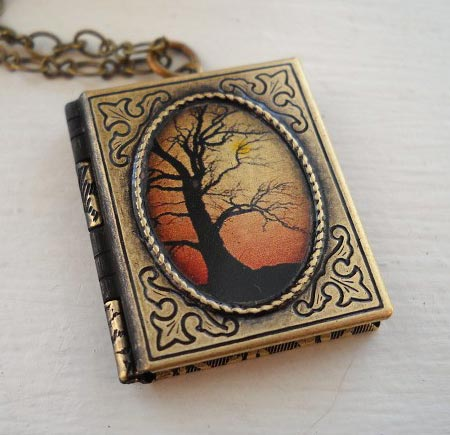 Book Locket Pendant